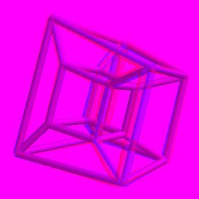 stereoscopic animated hypercube
